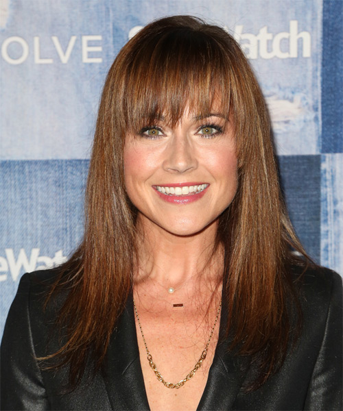 Nikki Deloach Long Straight Formal   Hairstyle   - Medium Brunette