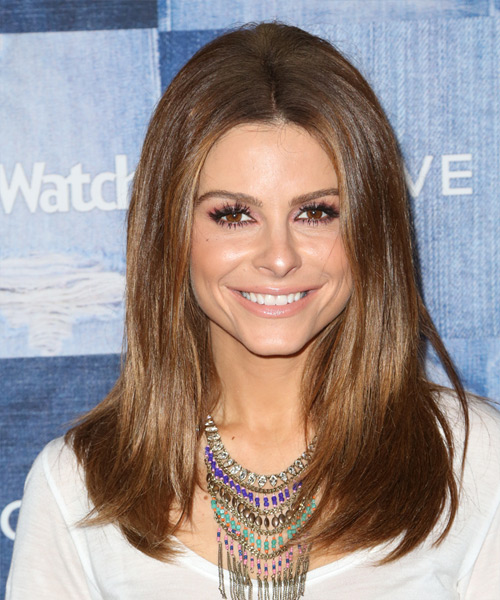 Maria Menounos Long Straight Formal   Hairstyle   - Medium Brunette (Chestnut)