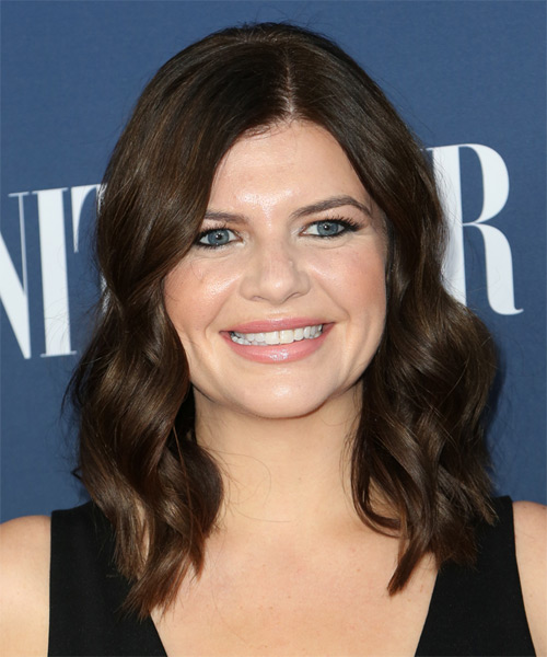 Casey Wilson Medium Wavy Casual   Hairstyle   - Medium Brunette (Chocolate)