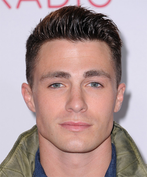 Colton Haynes Short Straight Casual    Hairstyle   -  Mocha Brunette Hair Color