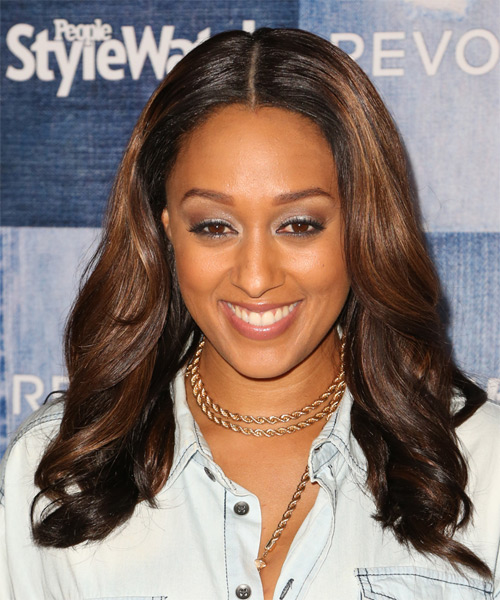 Tia Mowry Long Wavy   Dark Brunette   Hairstyle