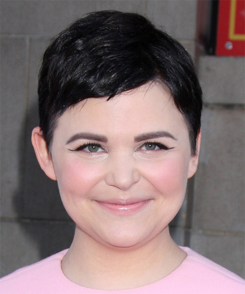 Ginnifer Goodwin Short Straight Casual   Hairstyle   - Black (Ash)
