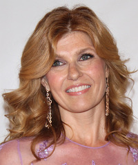 Connie Britton Medium Wavy Formal    Hairstyle   - Light Copper Red Hair Color