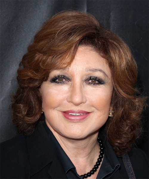 Angelica Maria Short Wavy Formal    Hairstyle   -  Mahogany Brunette Hair Color