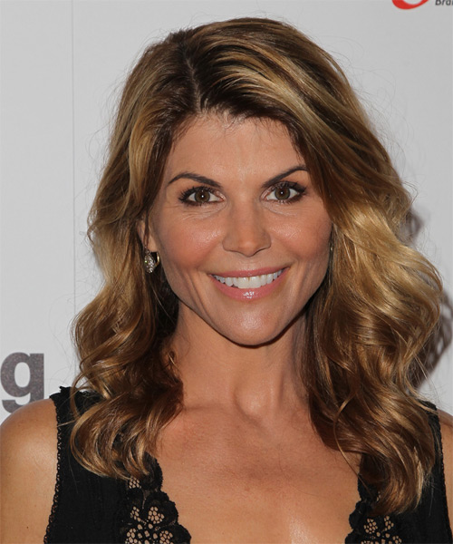 Lori Loughlin Long Wavy Casual   Hairstyle   - Medium Brunette