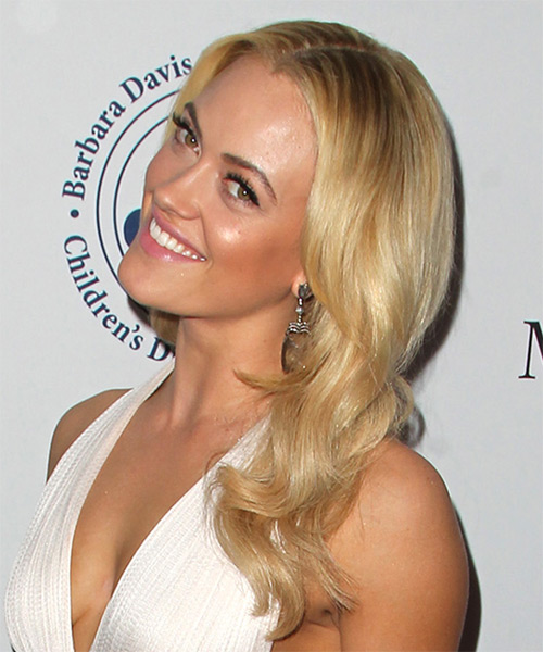 Peta Murgatroyd Long Wavy Formal   Hairstyle   - Medium Blonde (Honey) - Side on View