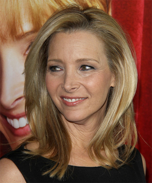 Lisa Kudrow Medium Straight Formal   Hairstyle   - Medium Blonde - Side on View
