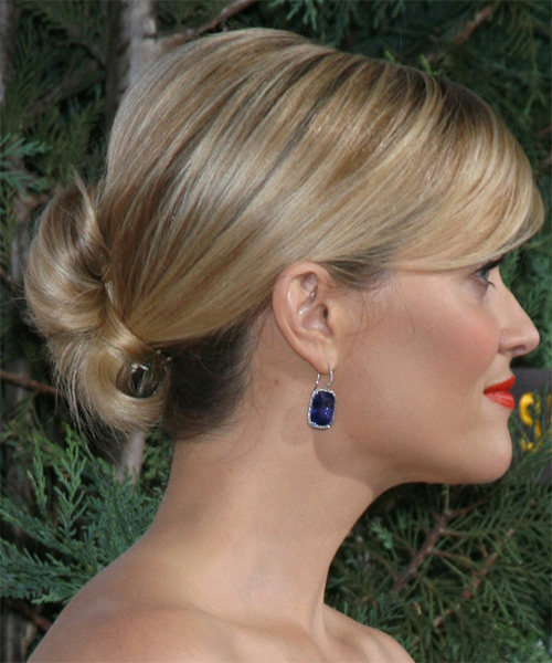 Reese Witherspoon Long Straight    Golden Blonde  Updo    - Side on View