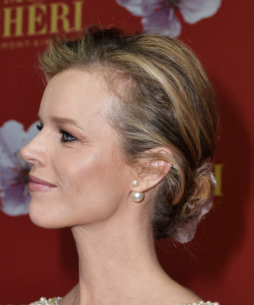 Eva Herzigova Long Wavy Formal  Updo Hairstyle   - Dark Blonde - Side on View