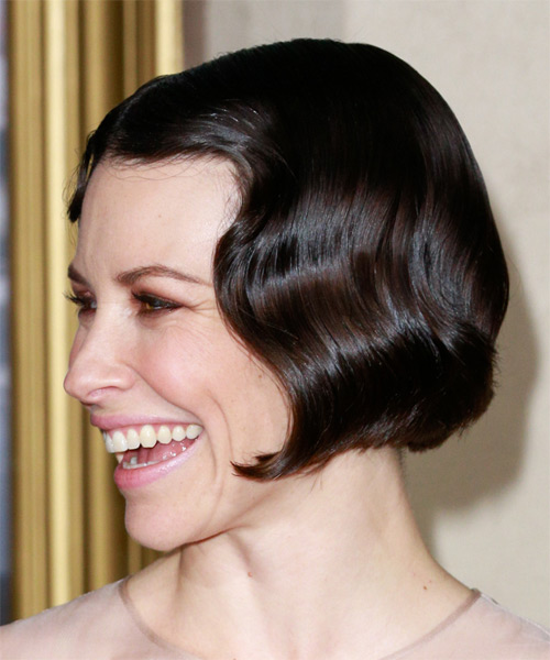 Evangeline Lilly Short Wavy Formal    Hairstyle   - Black  Hair Color - Side on View