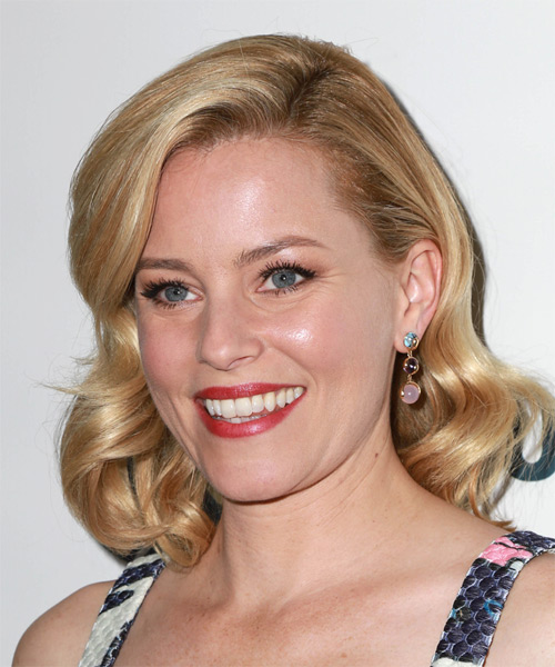 Elizabeth Banks Medium Wavy Formal   Hairstyle   (Golden) - Side on View
