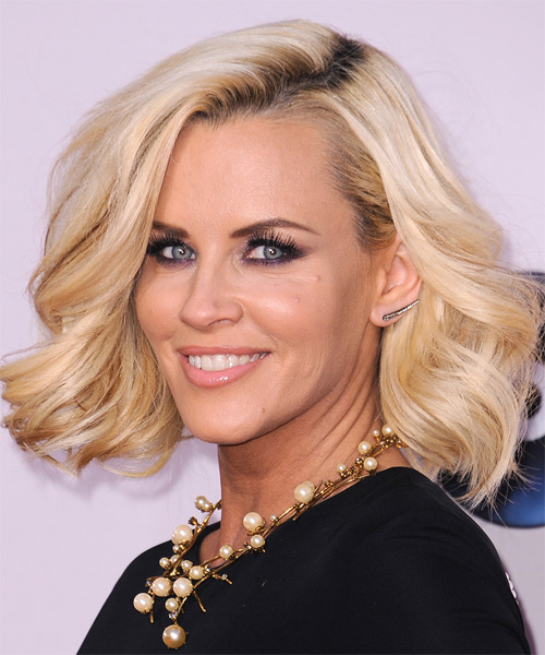 Jenny McCarthy Medium Wavy Formal    Hairstyle   - Golden Hair Color - Side on View