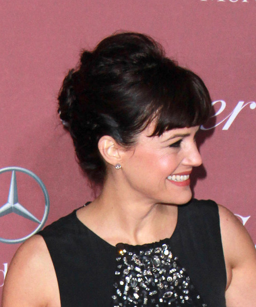 Carla Gugino Long Wavy Formal  Updo Hairstyle   - Side on View