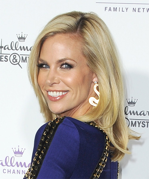 Brooke Burns Medium Straight Formal   Hairstyle   - Medium Blonde - Side on View