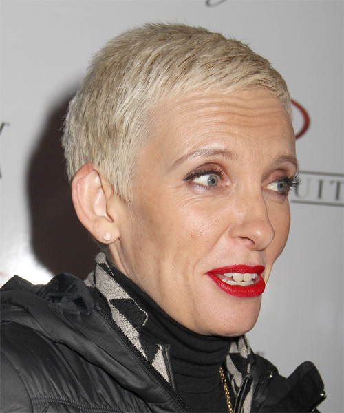 Toni Collette Short Straight Casual   Hairstyle   - Light Blonde - Side on View