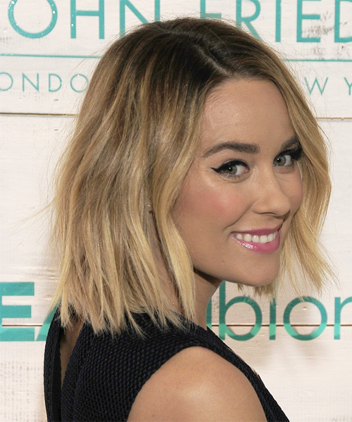 Lauren Conrad Medium Straight Casual   Hairstyle   - Medium Blonde - Side on View