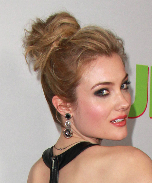 Skyler Samuels Casual Long Straight Updo Hairstyle