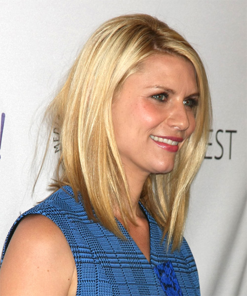 Claire Danes Medium Straight Casual   Hairstyle   - Medium Blonde (Honey) - Side on View