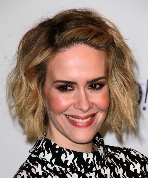 Sarah Paulson Medium Straight Casual    Hairstyle   - Dark Blonde Hair Color - Side on View