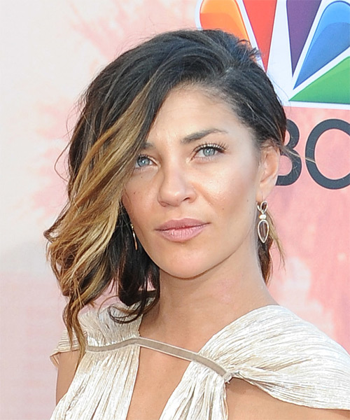 Jessica Szohr Medium Wavy Casual  Updo Hairstyle   - Black - Side on View