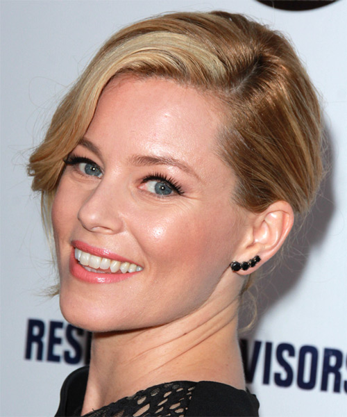 Elizabeth Banks Medium Wavy Formal  Updo Hairstyle   (Honey) - Side on View