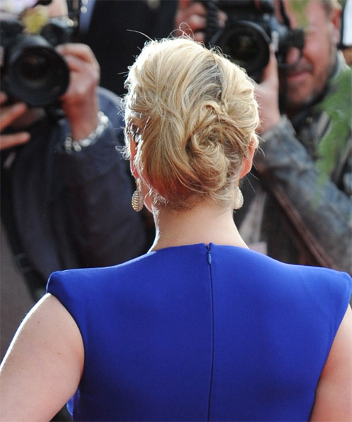 Kate Winslet Long Straight Formal Wedding Updo Hairstyle   - Medium Blonde - Side on View