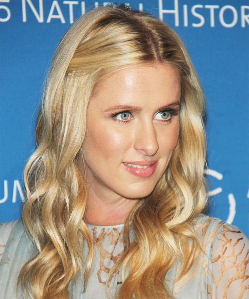Nicky Hilton Long Wavy Casual   Hairstyle   - Medium Blonde (Honey) - Side on View