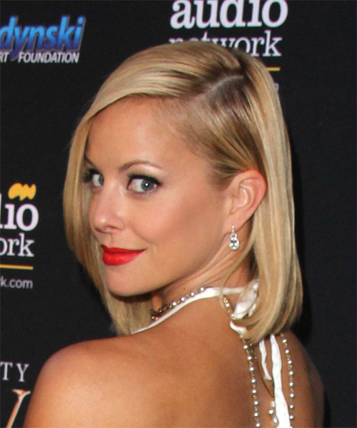 Amy Paffrath Medium Straight Formal   Hairstyle   - Medium Blonde - Side on View