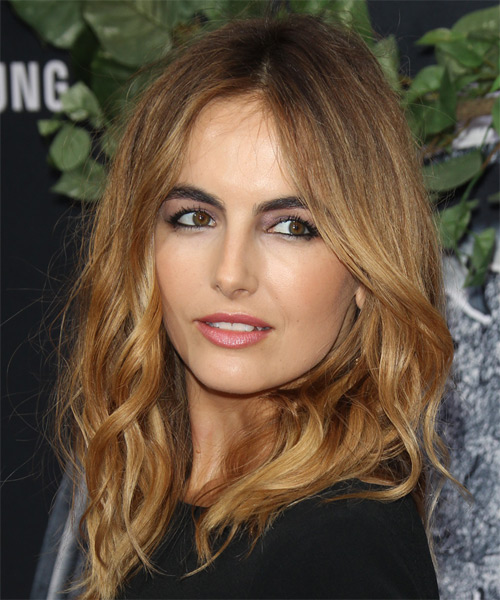Camille Belle Long Wavy Casual    Hairstyle   - Dark Golden Blonde Hair Color - Side on View