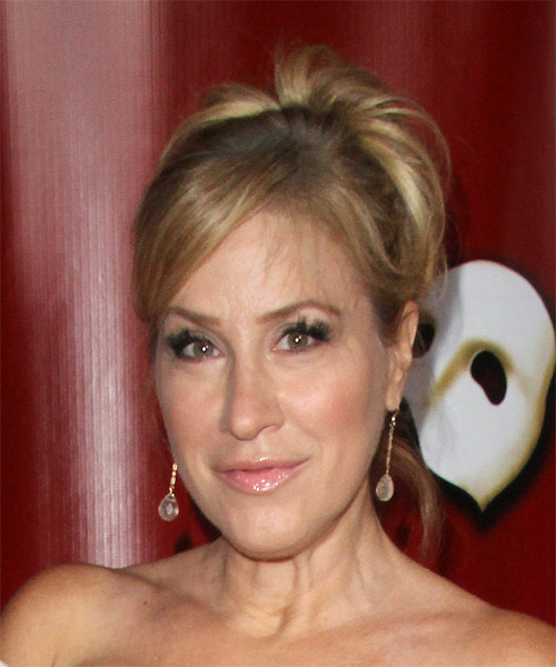 Lisa Ann Walter Long Straight Formal   Updo Hairstyle   - Dark Blonde Hair Color - Side on View