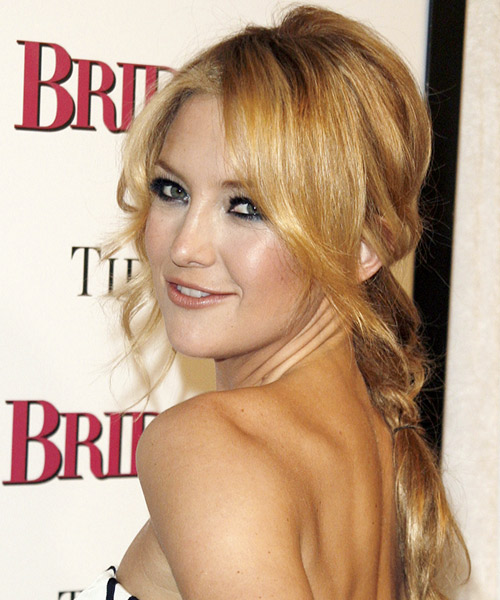 Kate Hudson Updo Medium Curly Formal  Updo Hairstyle   - Side on View
