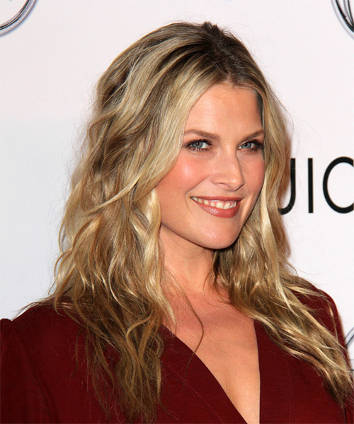 Ali Larter Long Wavy Casual   Hairstyle   - Dark Blonde - Side on View