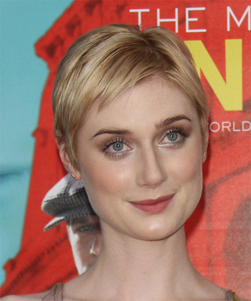 Elizabeth Debicki Short Straight Casual    Hairstyle   - Light Golden Blonde Hair Color - Side on View