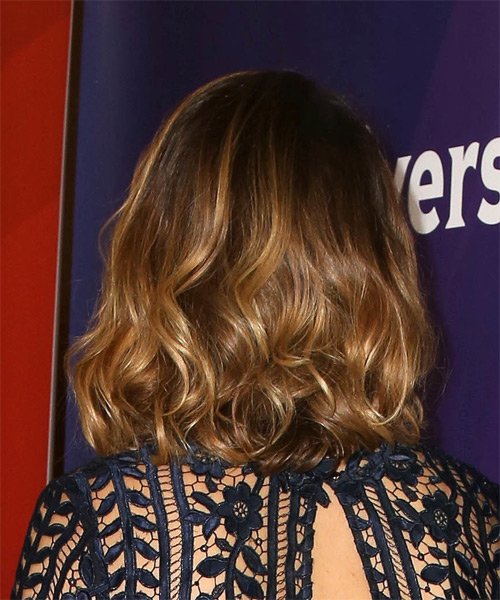 Sophia Bush Medium Wavy Formal    Hairstyle   - Medium Golden Brunette Hair Color with Dark Blonde Highlights - Side on View