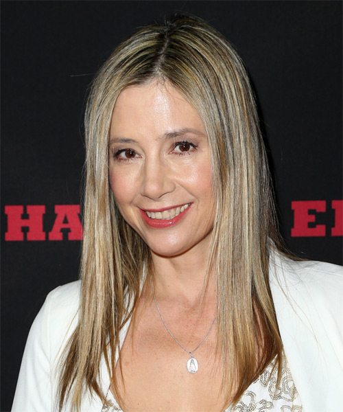 Mira Sorvino Long Straight Casual    Hairstyle   - Medium Blonde Hair Color - Side on View