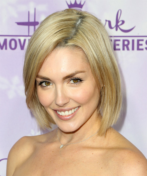 Taylor Cole Medium Straight Casual Bob  Hairstyle   - Medium Blonde - Side on View