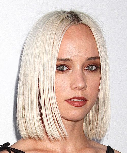 Margot Medium Straight Formal Bob  Hairstyle   - Light Blonde - Side on View