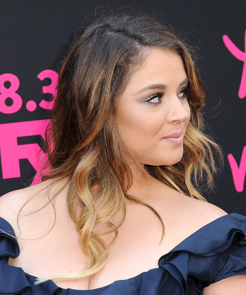 Kether Donohue Long Wavy Casual   Hairstyle   - Light Brunette - Side on View