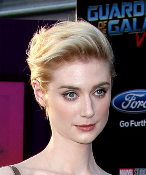 Elizabeth Debicki Short Straight Casual   Hairstyle   - Light Blonde - Side on View