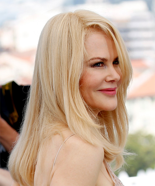 Nicole Kidman Long Straight Casual    Hairstyle   - Side on View