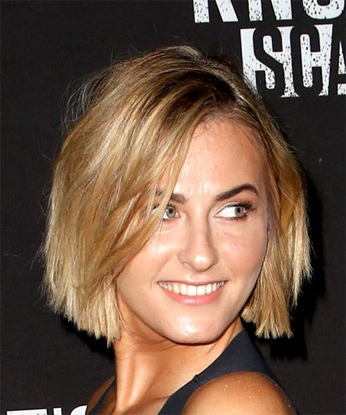 Scout Taylor Compton Short Straight Casual Bob  Hairstyle   - Medium Blonde - Side on View