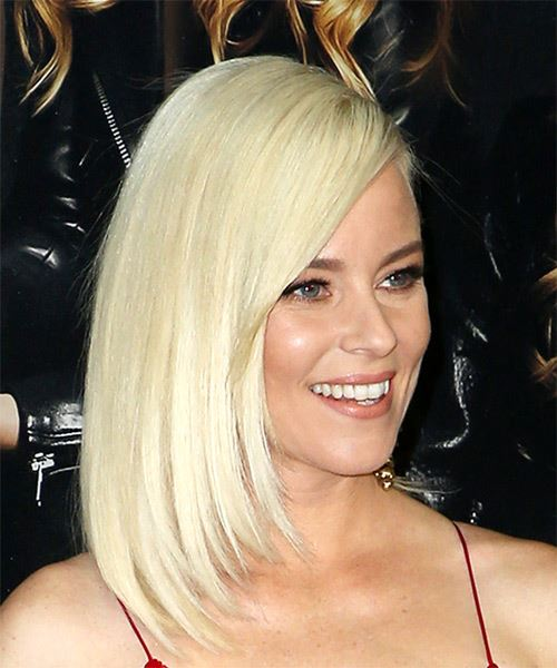 Elizabeth Banks Medium Straight Casual Bob  Hairstyle with Side Swept Bangs  - Light Blonde - Side on View