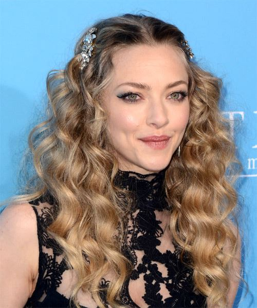Amanda Seyfried Long Curly Casual   Hairstyle   - Medium Blonde - Side on View