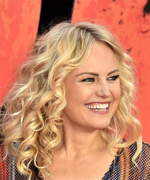 Malin Akerman Medium Curly Casual   Hairstyle   - Light Blonde - Side on View