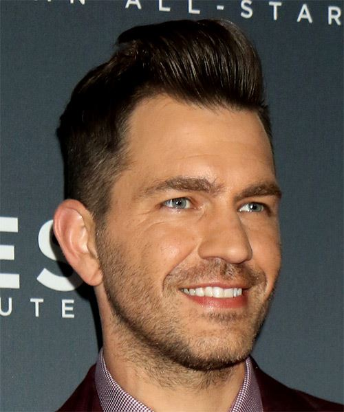 Andy Grammer Short Straight   Black    Hairstyle   - Side on View