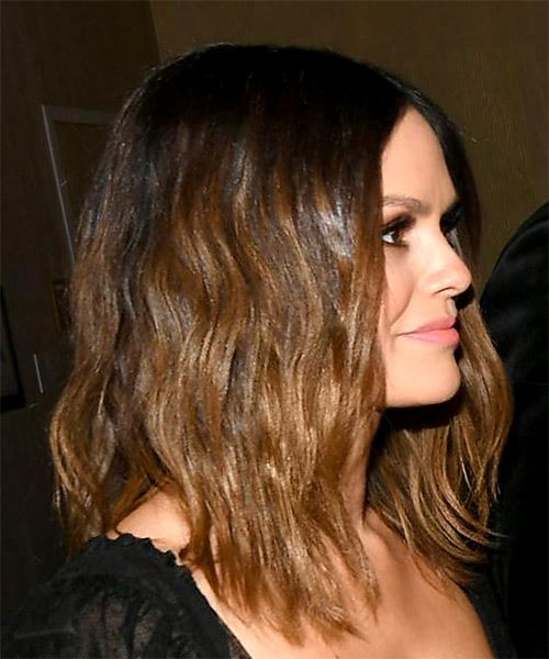 Rachel Bilson Medium Straight Black Caramel Hairstyle