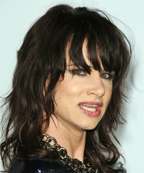 Juliette Lewis Long Wavy Casual   Hairstyle   - Side on View