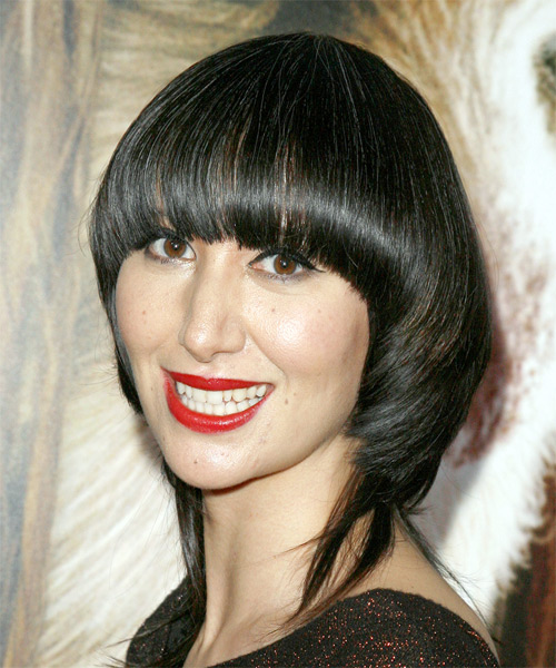 Karen O Long Straight Alternative   Hairstyle   - Side on View
