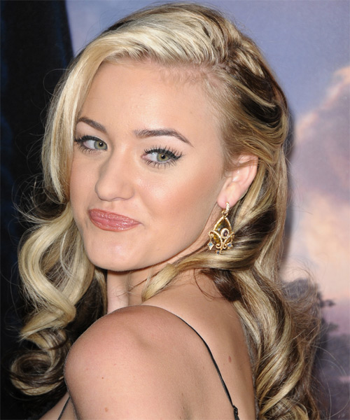 Amanda Michalka Long Wavy Formal   Hairstyle   - Side on View