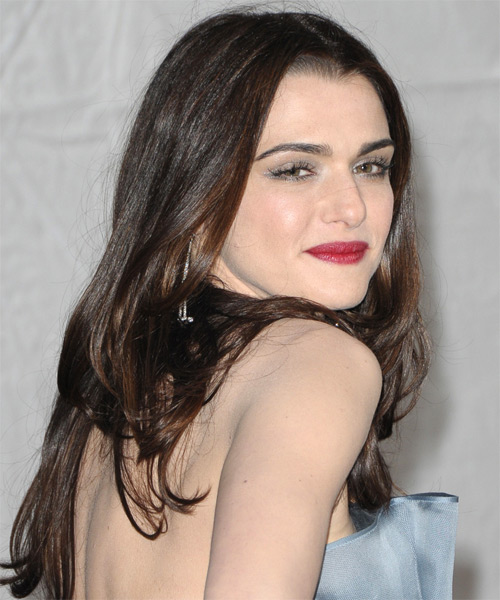 Rachel Weisz Long Straight Formal   Hairstyle   - Dark Brunette - Side on View